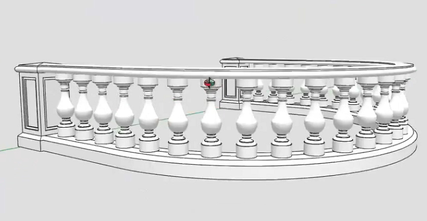 Curved Handrail Sketchup Model - Tips And Tricks-1_201510209141