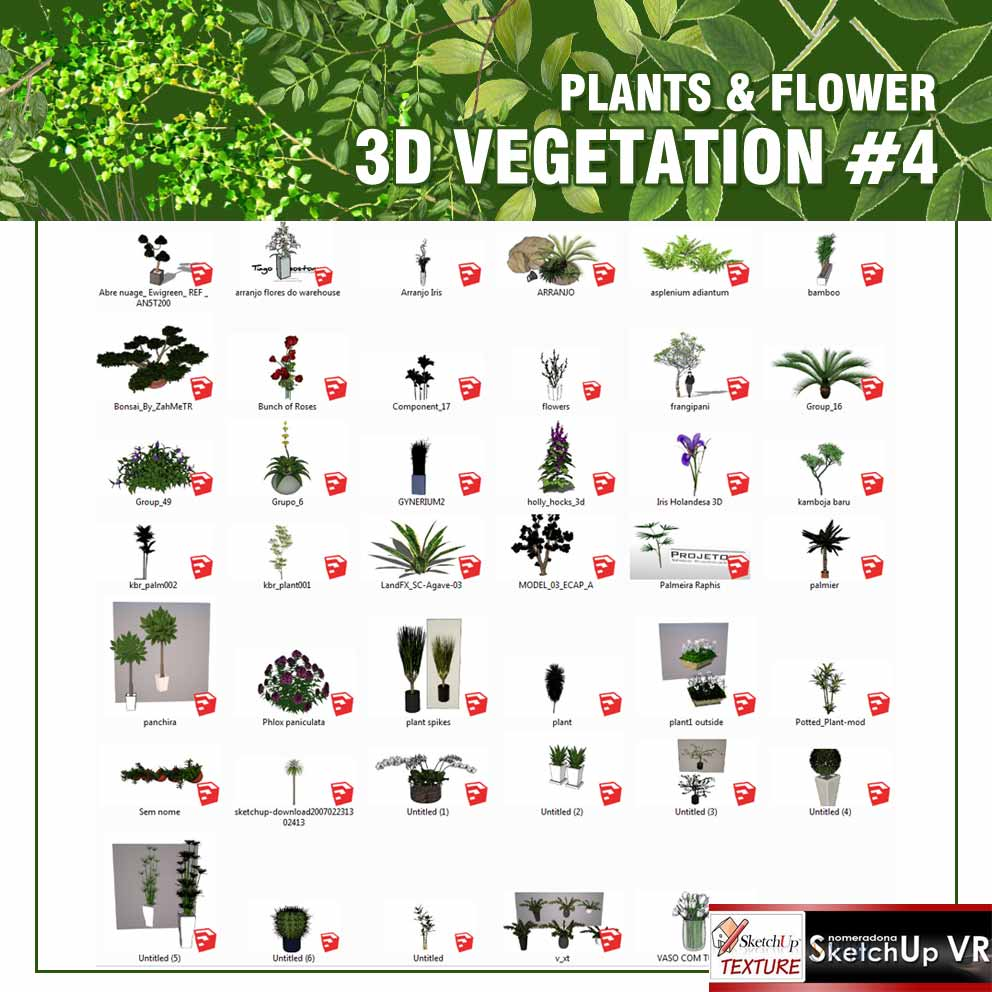 sketchup_3D_model_vegetation-#4